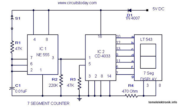 4026 decade counter and 7 segment display driver datasheet